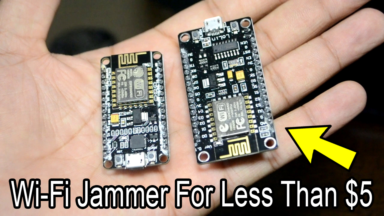 Software To Flash Our Node MCU And Make It A Wi-Fi Jammer