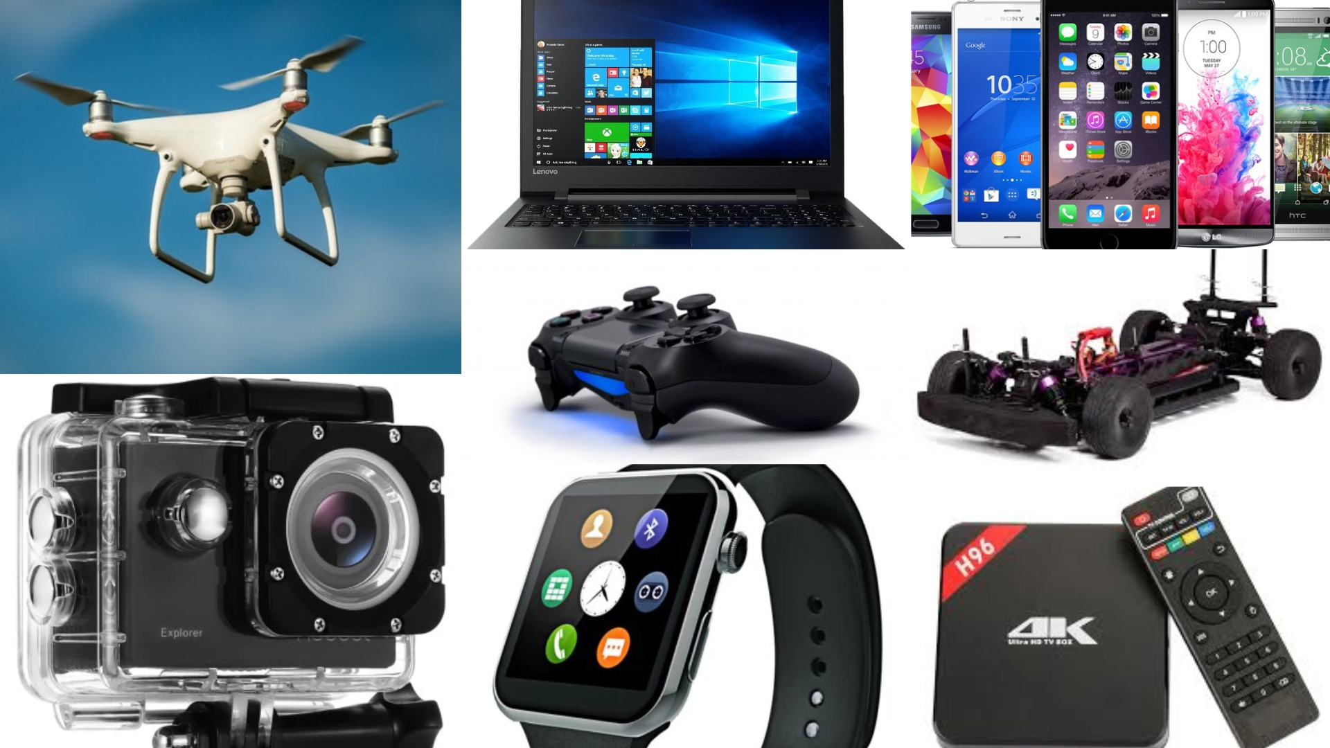 Best Deals On Drones, Mobiles, Laptop, Actions Cameras, Racing Cars, 3D Printers And Many More Gadgets !
