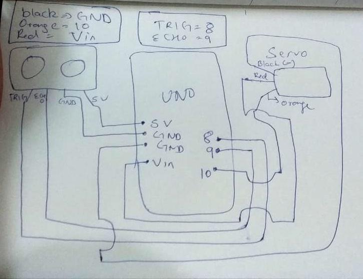 Code And Circuit Diagram For Radar Using Ultrasonic Sensor
