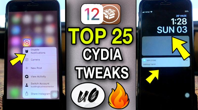 Top FREE JAILBREAK tweaks for iOS 12 – 12.1.2 | Unc0ver Cyida Jailbreak Tweaks !