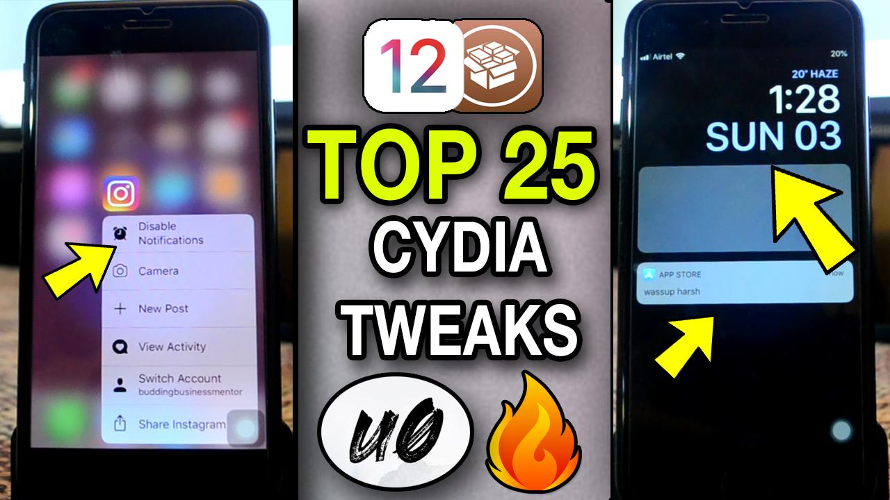 Top FREE JAILBREAK tweaks for iOS 12 – 12 1 2 | Unc0ver Cyida
