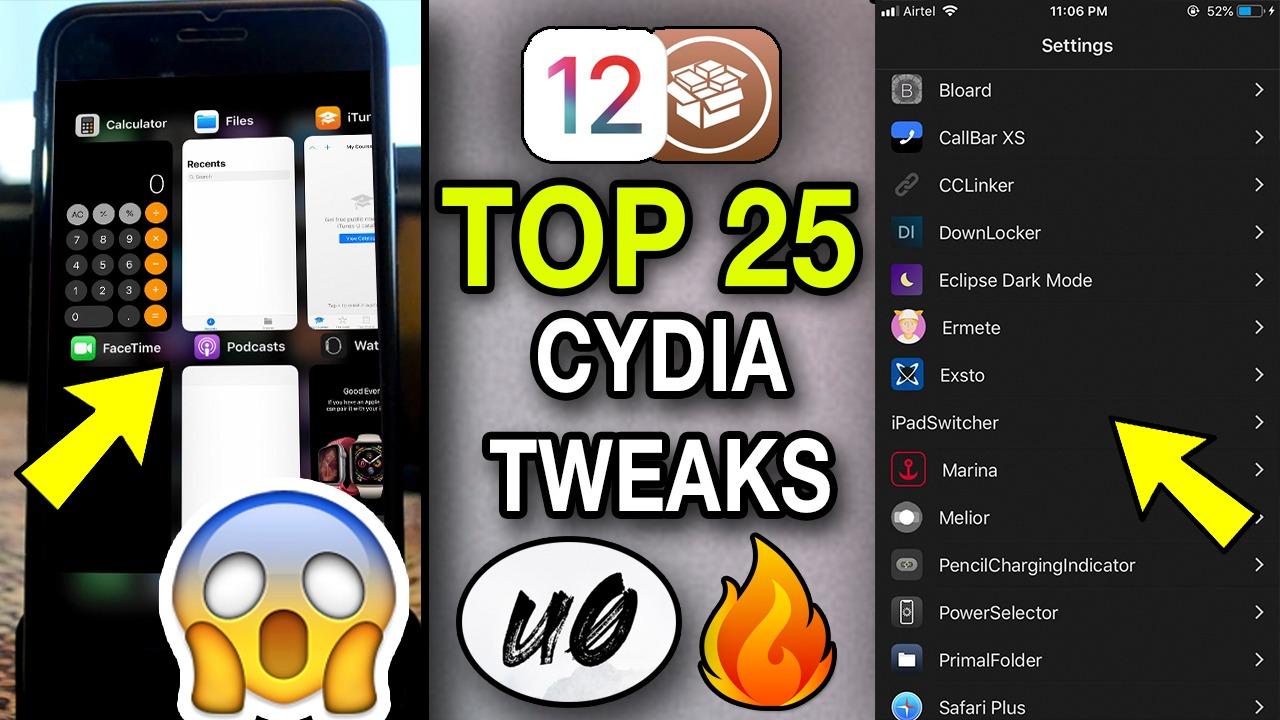 25+ Top FREE and NEW JAILBREAK tweaks for iOS 12 – 12 1 2 | Unc0ver