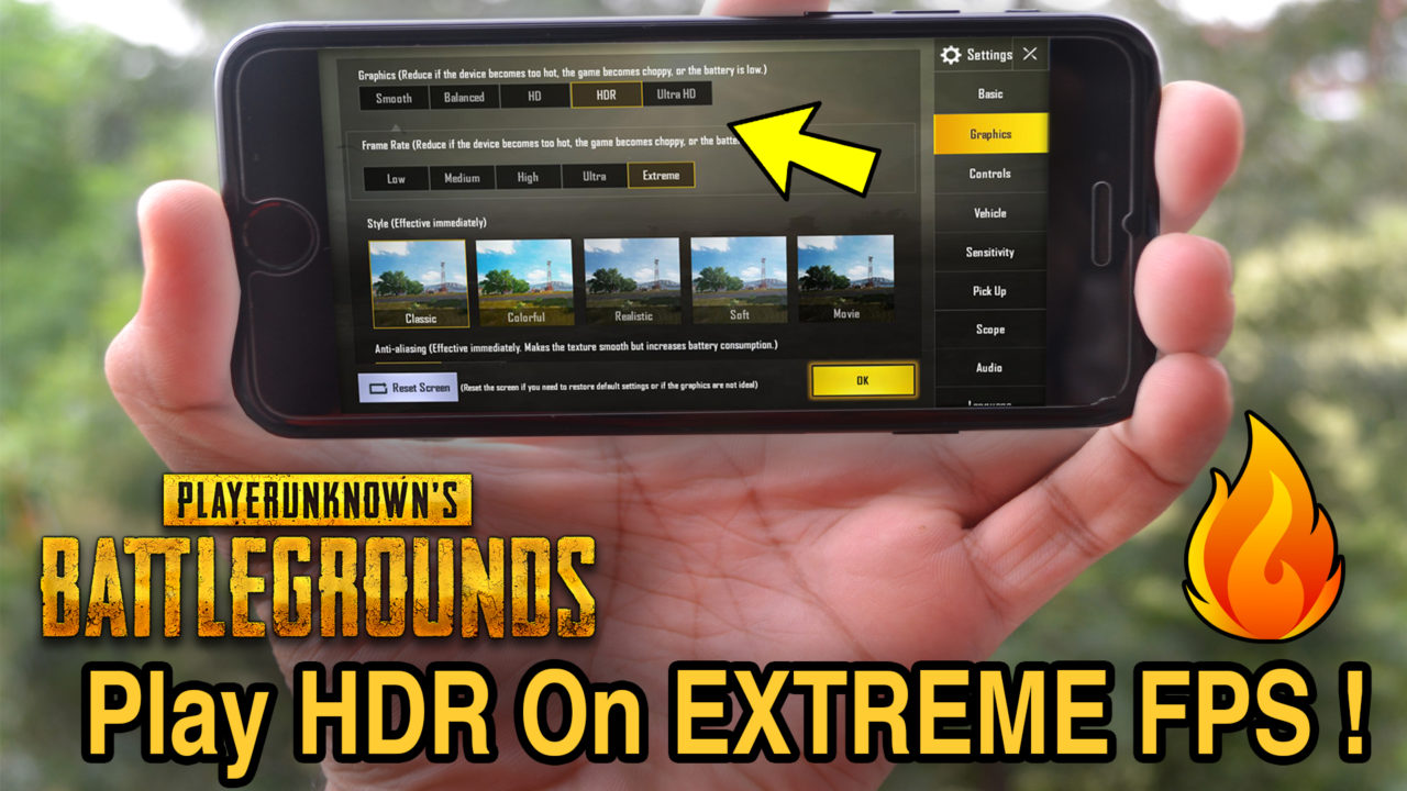 "How to play PUBG on ""HDR + EXTREME"" frame rate on any iPhone"